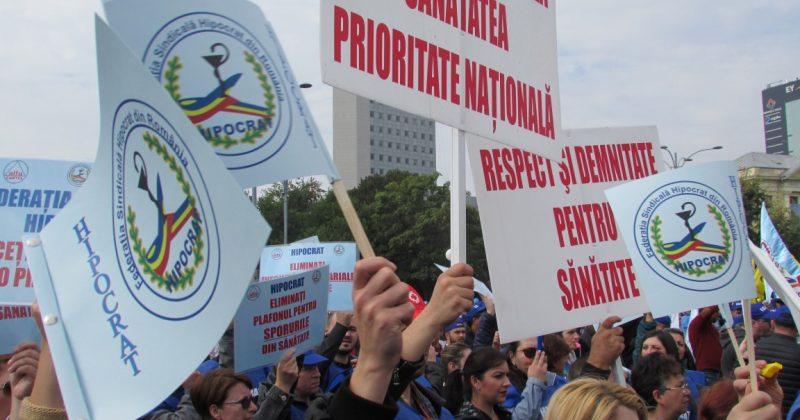 Federaţia Sindicală Hipocrat protestează